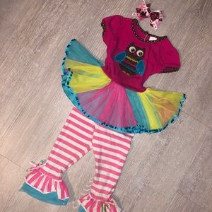 2T Boutique owl outfit w. Bow